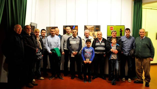 Algunas de las personas que han posado para las fotografías de la exposición.