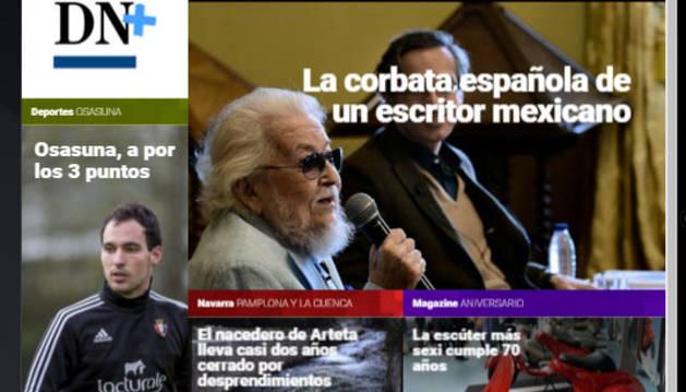 Fernando Del Paso, Premio Cervantes, en portada de DN+ Tablet.