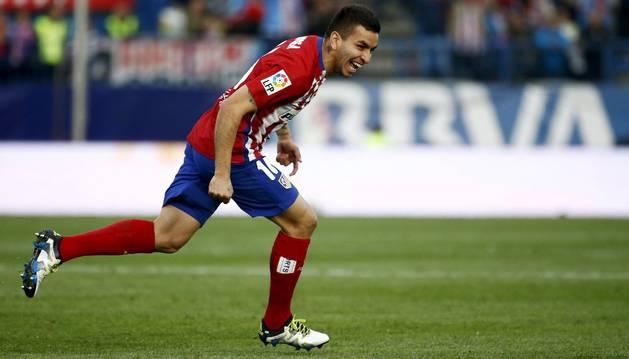 Correa celebra el 1-0 contra el Málaga.