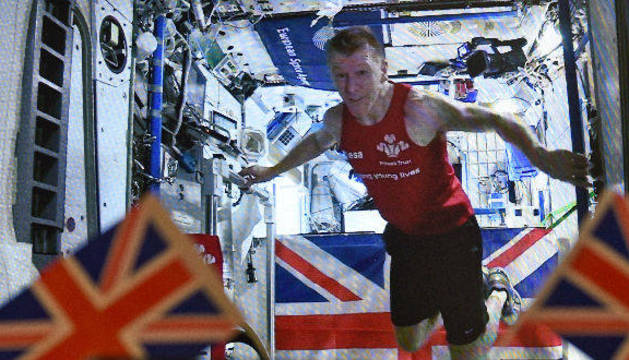 El astronauta británico Tim Peake.