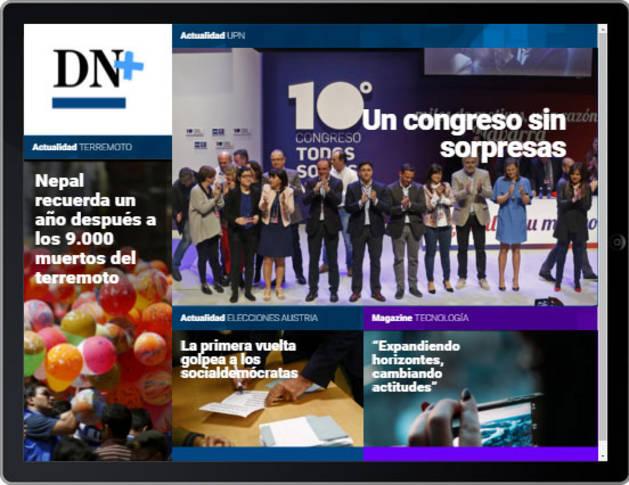 La reelección de Esparza, en portada de DN+ Tablet