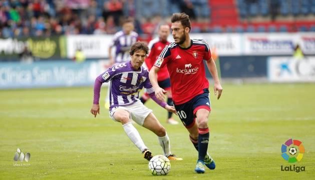 Roberto Torres, contra el Valladolid.