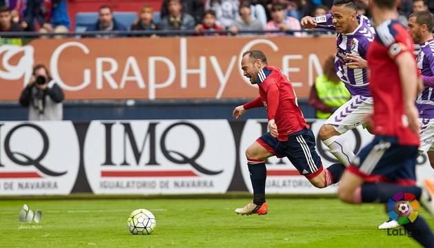 Nino, contra el Valladolid.