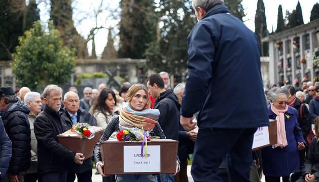 Acto de inhumación de restos de fusilados, celebrado el pasado 4 de abril en Pamplona.