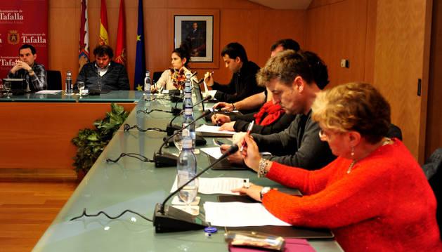 El pleno celebrado el lunes en el Ayuntamiento de Tafalla.