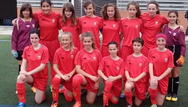 Selección femenina sub12 de Navarra.