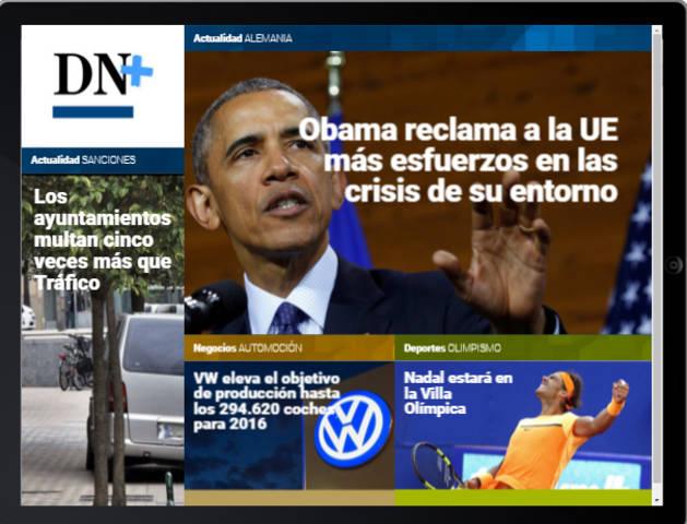 La reunión de Obama con los principales líderes europeos, en portada de DN+ Tablet