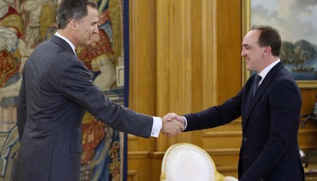 El Rey recibe a Esparza, recién reelegido presidente de UPN