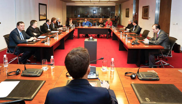 La anterior comisión de investigación sobre CAN, cuando se constituyó el 22 de enero de 2015 en la Cámara.