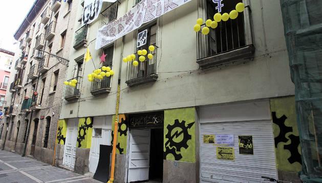 Edificio ocupado de la calle Compañía.