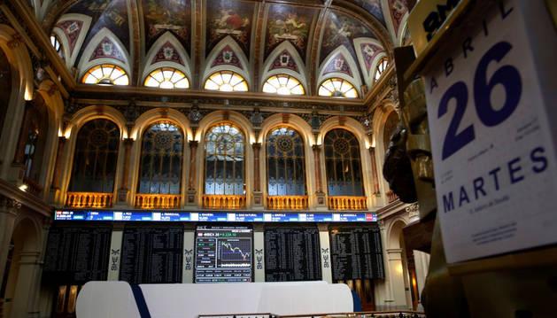 Interior del edificio de la Bolsa española.