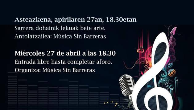 La Casa de la Juventud ofrece este miércoles 'música sin barreras'