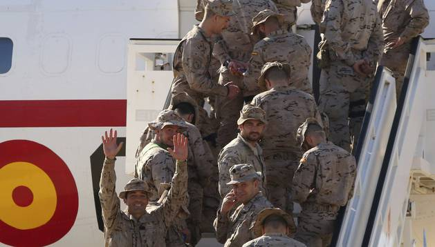 Integrantes del Ejército de Tierra de la Operación 'Apoyo Irak'.