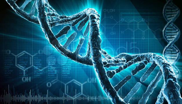 Una representación del ADN.