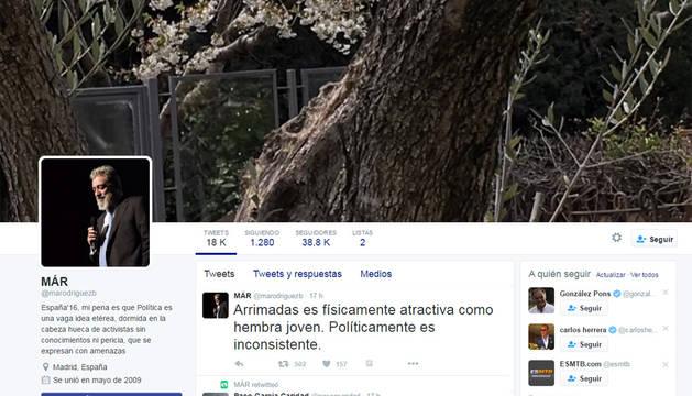 Cuenta del tertuliano con el polémico comentarios sobre Inés Arrimadas.