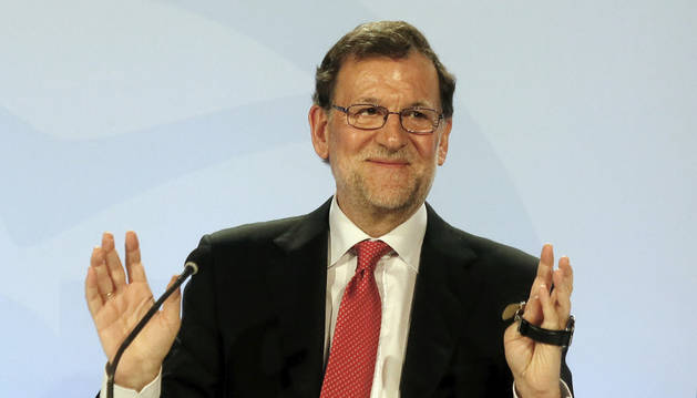 Mariano Rajoy, durante la clausura de una conferencia con los portavoces parlamentarios de su partido.