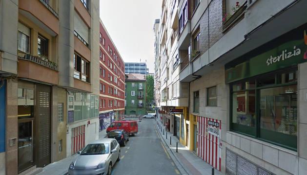 Calle Los Indianos, en Santander.