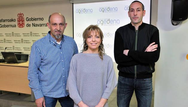 Ernesto Modrego, Nuria Ruiz y Jordi Gual.