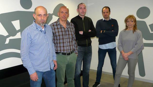 Ernesto Modrego, Fermin Unzu, Jordi Gual, Patxi Martínez y Nuria Ruiz, miembros de la Junta Directiva de Agedena