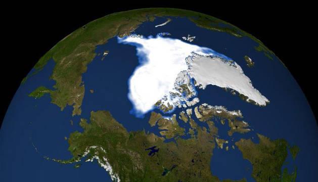 Imagen de 2007 del deshielo en el Ártico.