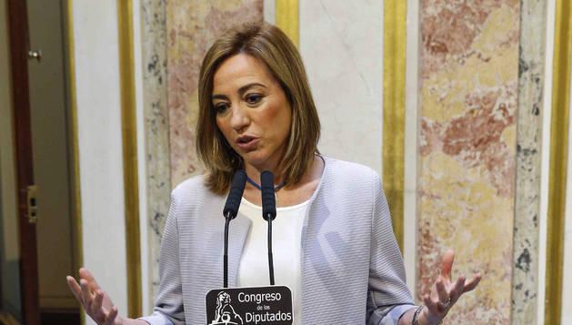 La secretaria de Relaciones Internacionales del PSOE, Carmen Chacón.