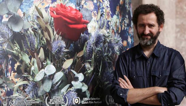 Jon Garaño, en la presentación de 'Loreak'.