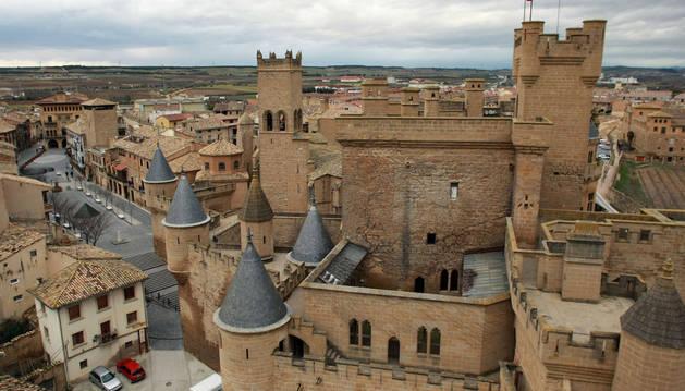 El castillo de Olite desde la torre de la Atalaya.