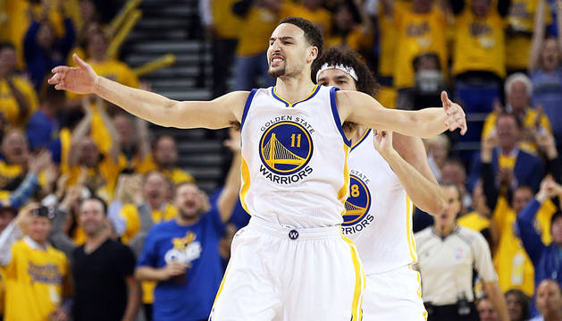 Thompson, líder de los Warriors contra los Rockets.
