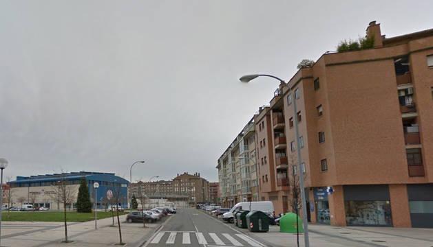 Calle Tiburcio Redín, en el barrio de la Rochapea.