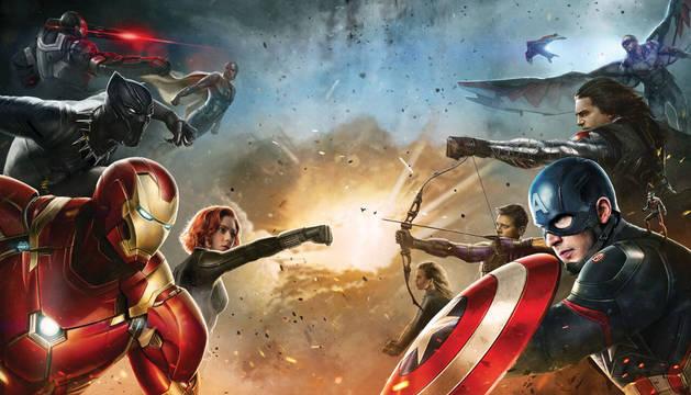 Los Vengadores se enfrentan en la nueva película de Marvel.