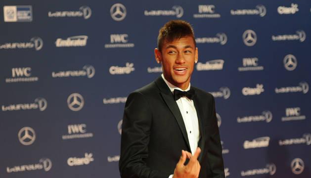 Neymar, en la alfombra roja de los Premios Laureus.