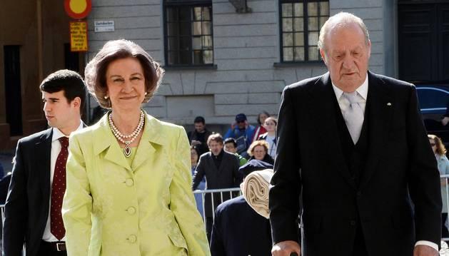 Los Reyes Juan Carlos I y Sofía asisten al cumpleaños del Gustavo de Suecia