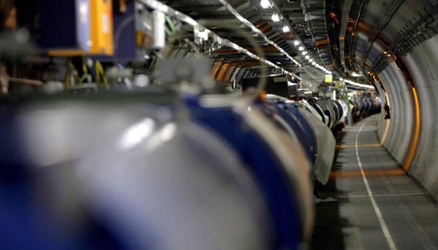 Gran Colisionador de Hadrones-LHC en Ginebra.