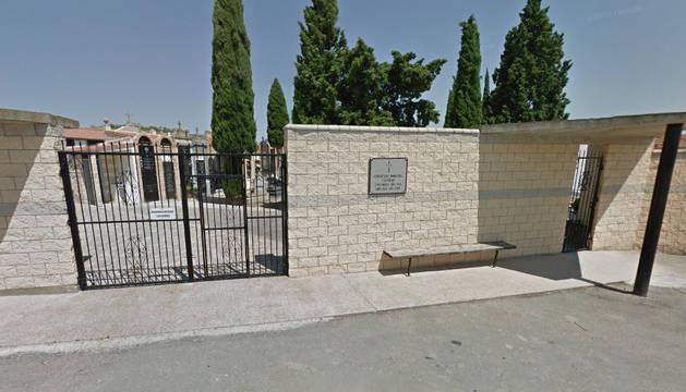 Cementerio de Fustiñana, donde ha tenido lugar el homenaje.