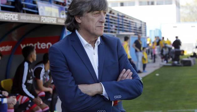 Enrique Martín, en el estadio Santo Domingo de Alcorcón.