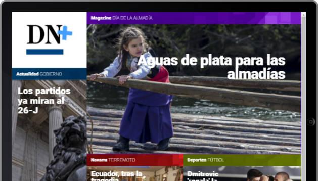 Osasuna y las almadías de Burgui, en portada de DN+ Tablet