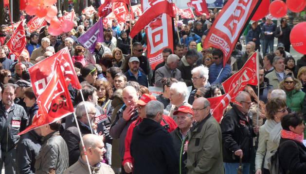 Manifestación de UGT y CC OO del Primero de Mayo.