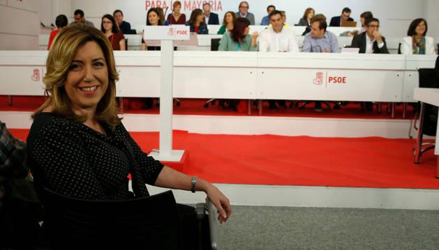 Susana Díaz, en la reunión extraordinaria del Comité Federal del PSOE.