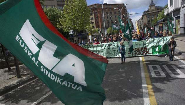 ELA vuelve a Pamplona en el Primero de Mayo para denunciar la precariedad