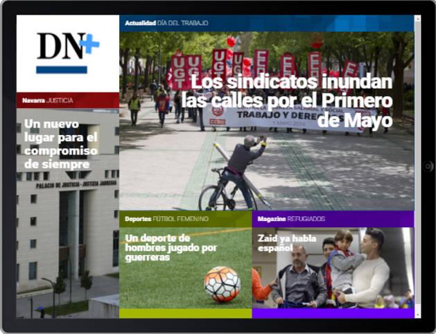 Las manifestaciones del 1 de mayo, en portada de DN+ Tablet