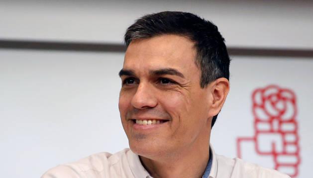 El secretario general del PSOE, Pedro Sánchez, durante la reunión extraordinaria del Comité Federal del PSOE.