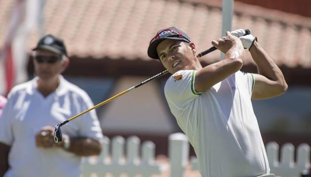El joven golfista navarro en el European Tour, Borja Virto, en el torneo de Perth (Australia), disputado a finales de febrero.