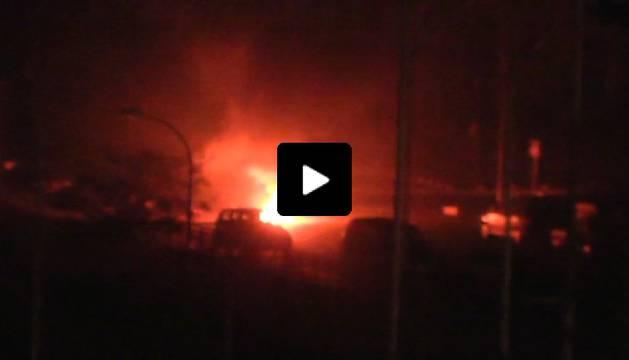 Disturbios en Melilla, donde se han quemado contenedores.