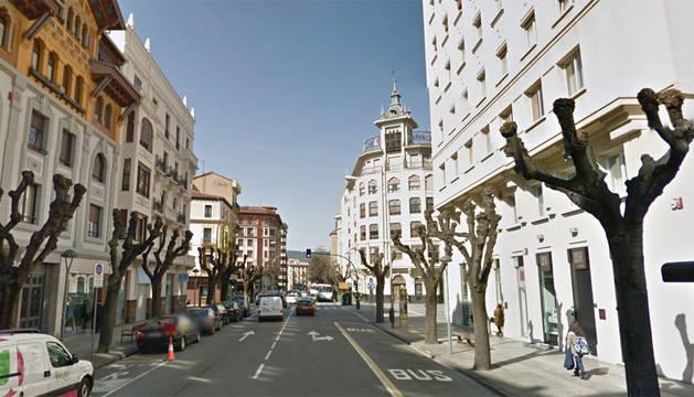 Imagen de la avenida San Ignacio de Pamplona.