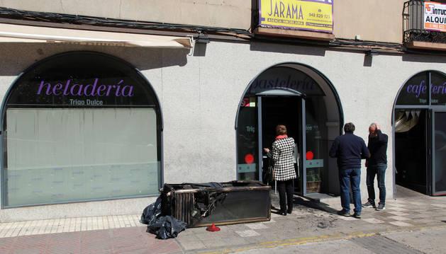 Dnplus tudela incendio en una cafeter a del paseo de - Trigo dulce tudela ...