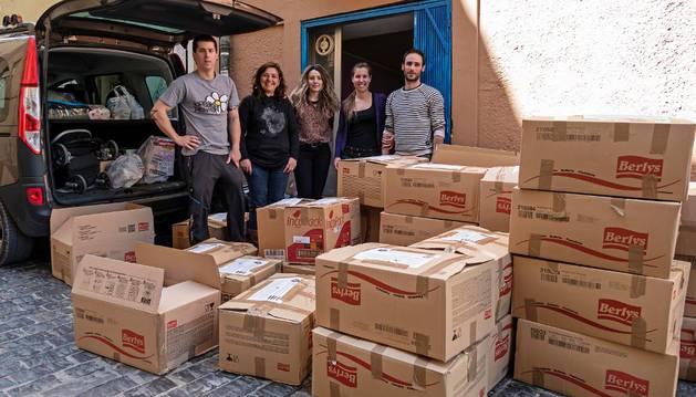 27 palets y 1.000 €  con destino a la población Siria desde Tierra Estella