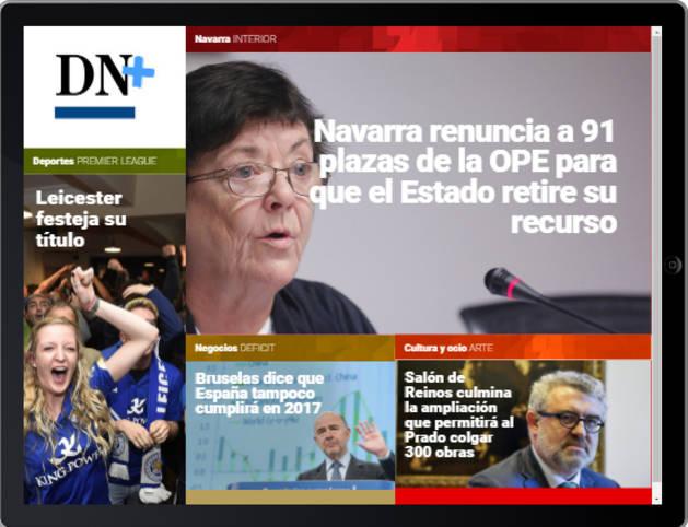 Las OPE de bomberos y el Museo del Prado,  en portada de DN+ Tablet