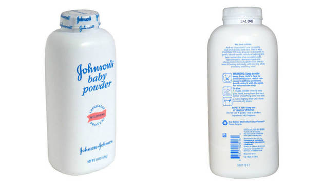Producto de polvos de talco  J&J.