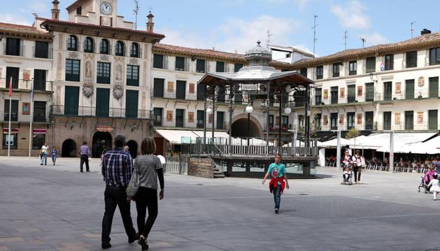 Imagen de la Plaza de los Fueros de Tudela.
