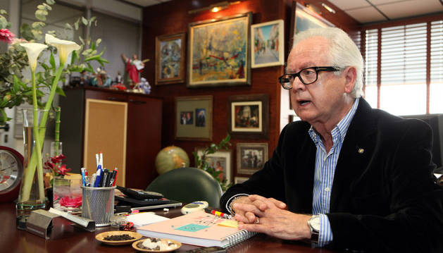 El director general del grupo Rafal, Félix Lera, en su oficina del polígono Las Labradas.